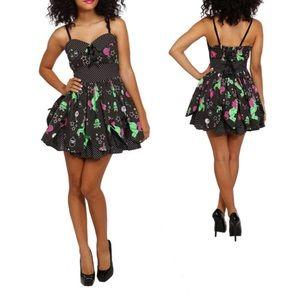 Hell Bunny Dresses - Hell Bunny Zombie Unicorn Petal Dress - Size Small